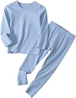 amropi Kids Girls Thermal Underwear Set Warm Base Layer Long Johns Tops and Trousers Sets for 2-10 Years