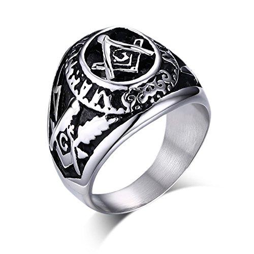 MG Masonic Jewelry Herren - Sonstige Edelstahl