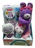 Fisher Price Cuddle N Play Pals - Bunny Rabbit, Fox & Lamb- 4 Piece Gift Set