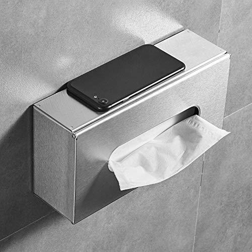 LEMON CLOUD Porta Carta Igienica,Portarotolo a Parete ,Portarotoli e Dispenser per Rotolo di Carta Impermeabili/Antipolvere - per Bagno/Toilette (Rettangolo)