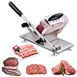 Manual Frozen Meat Slicer, Stainless Steel Meat Cutter Beef Mutton Roll Meat Cheese Food Slicer...