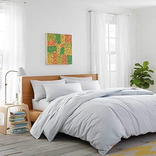 sleepwise™ Biber Bettwäsche Baumwolle | weich warm kuschelig | 200 x 200 cm + 2X 80x80cm Kissenbezüge | Hell Grau