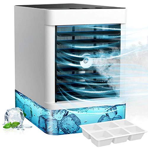 StillCool Raffreddatore d'Aria Mini, 3 in 1 Portatile Air Cooler 3 velocità Cavo USB per Casa Ufficio