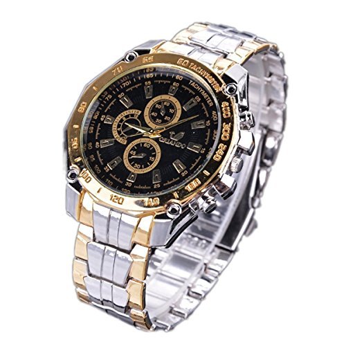 Dongtu Fashion Stainless Steel Luxury Sport Analog Quartz Clock Men\'s Wrist Watch Wrist Watches