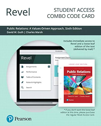 Revel for Public Relations: A Values Driven Approach -- Combo Access Card (6th Edition)