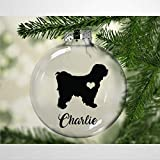 DONL9BAUER Tibetan Terrier Christmas Balls Ornaments for Xmas Tree Personalized...