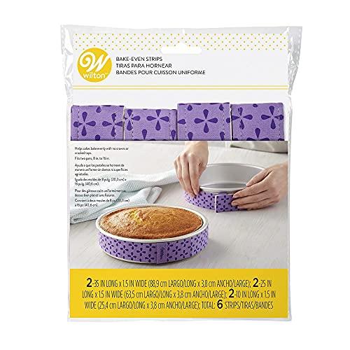 Wilton Bake-Even Cake Strips for Cake Pans, 6-Piece