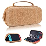 Moretek Compatible with Nintendo Switch Carrying Case EVA Hard Shell Travel Protective Cases for Nintendo Switch Game Console & Accessories (Wood Yellow)