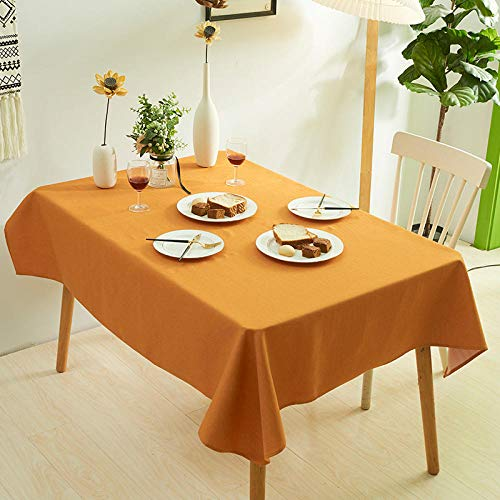 XIAOBAO Disposable Tablecloths,Pure color thickened table cloth, water-proof non-washing table cloth-Orange_60*60cm,Tablecloth Rectanglular Table Cover