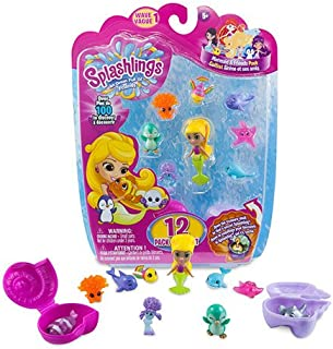 Splashlings Mermaid and Friends Series 1 Coral Canyon Playset - 12 Pack