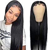 Maxine Silky Straight Lace Frontal Wigs Human Hair Deep Parting 13x6 Transparent Lace Front Wigs 150% Density Straight Wave Full&Soft Human Hair Wigs for Black Women Brazilian Glueless Wig 18 Inch