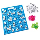 Learning Resources 120 Number Board, Tray & Numbered Tiles, Common Core Math, 181 Piece, A...
