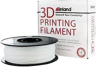 Inland 1.75mm White TPU 3D Printer Filament - 1kg Spool (2.2 lbs)