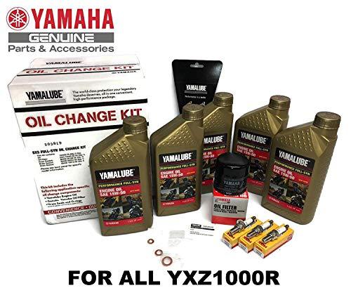 YAMAHA YXZ1000R / SS/EPS SxS Full-Synthetic Maintenance Kit Oil Change Performance NGK Spark Plug Set Gaskets 2016 2017 2018 2019 15W50 LUB-SXSCG-KT-15
