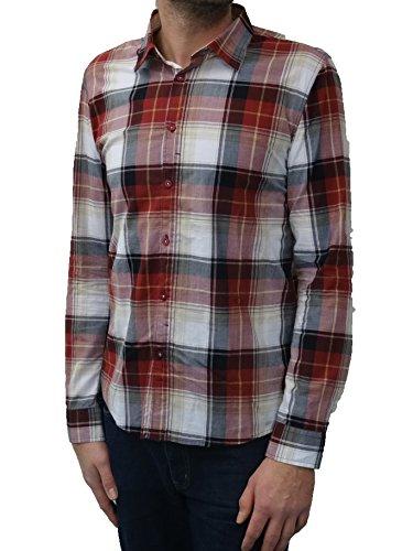 Lee Cooper- Chemise à Carreaux- 100% Coton -Homme- Couleur: Rosewood-Taille: M