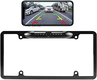 $88 » WiFi License Plate Backup Camera, GreenYi 5G Wireless 720P HD Car Rear View Reverse Cam for iPhone iPad Android Smart Phon...