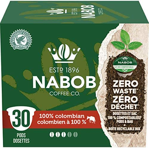 [Amazon.ca] Nabob 100% Colombian 100% Compostable Pods (Keurig Compatible), 30 pack – $11.97