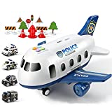 Nihlsen 18pcs/set simulación gran avión modelo policía coche modelo aparcamiento juguetes