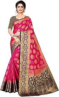 Neerav Exports Banarasi Silk With Rich Pallu Traditional Jacquard Saree (Pink)