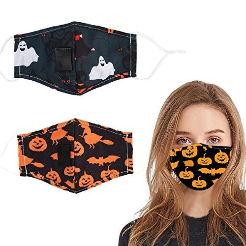 Halloween Reusable Face Cotton Bandanas, Halloween
