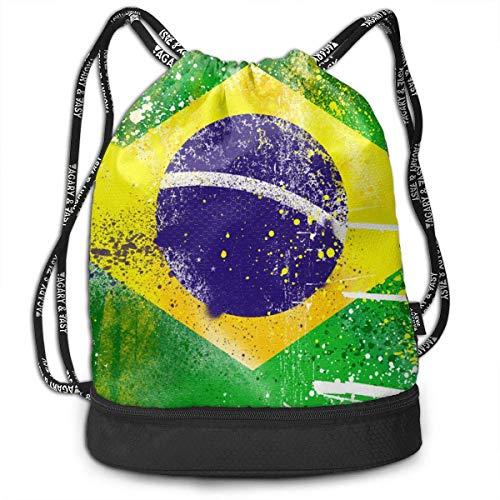 PmseK Mochila con Cordón,Bolsas de Gimnasia, Brazil Multifunctional Bundle Backpack Shoulder Bag For Men and Women