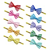 OWLFAVO 200 Pcs Assorted Cute Bow Twist Ties 10 Colors Favor Decorations for Sealing Gifts Bakery Cake Cookie Candy Lollipop Bag Packgae
