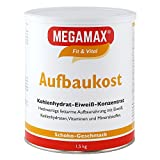 Megamax Aufbaukost Schoko 1.5 kg- Ideal zur Kräftigung und bei Untergewicht. Proteinpulver zur Zubereitung eines fettarmen Kohlenhydrat-Eiweiß-Getränkes für Muskelmasse u. Gewichtszunahme