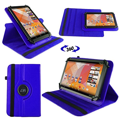 NAUC Tasche Hülle für Blaupunkt Endeavour 101M 101L Tablet Schutzhülle Hülle Tab Cover, Farben:Blau