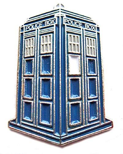Metal Enamel Pin Badge Time Lord Tardis Blue Police Box Travel Machine...