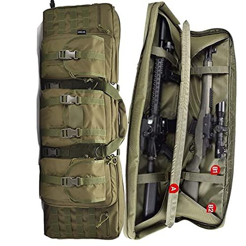 Funda para Escopeta Fundas para escopetas de Caza Rifle Bolsa Bolsa de rifle Carabina Bolsa de pistola multifunción Bolsa de rifle doble Correas de mochila plegables Carabina acolchada ,Green-36inch