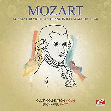 Mozart: Sonata for Violin and Piano in B-Flat Major, K. 378 (Digitally Remastered)