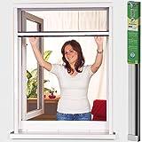 easy life Moustiquaire enroulable PVC pour fenêtres et portes en différentes tailles greenLINE (forage nécessaire), Taille:80 x 130 cm