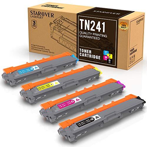 STAROVER Cartuccia di Toner Compatibile Ricambio per Brother TN241 TN245 per DCP-9020CDW DCP-9015CDW HL-3140CW HL-3150CDW HL-3170CDW MFC-9130CW MFC-9140CDN MFC-9330CDW MFC-9340CDW (4 Pacco)