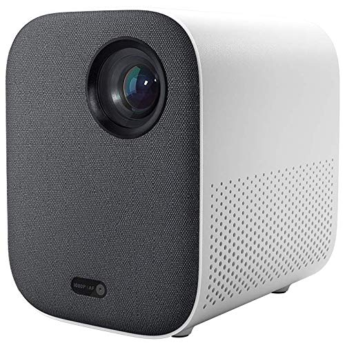 XIAOMI Mi Smart Compact Projector ، Smart Portable Projector with Wi-Fi ، FHD 1080p ، إسقاط حتى 120 بوصة ، نظام Android TV 9.0 ، 2 مكبرات صوت قوية مدمجة ، مساعدة Google