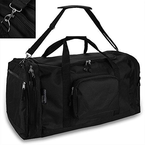 monzana Sporttasche Reisetasche Tasche | 70 cm | 95 Liter Volumen | Schultergurt abnehmbar und verstellbar | schwarz - Reisekoffer Koffer