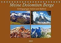 Meine Dolomiten Berge (Tischkalender 2022 DIN A5 quer): Impressionen meiner schoensten Berge in den Dolomiten (Monatskalender, 14 Seiten )