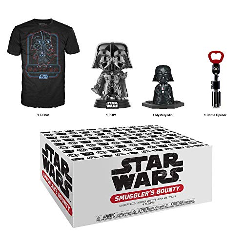 Funko Star Wars Smuggler's Bounty Subscription Box, Darth Vader Theme, Junio de 2019, Playera Extragrande