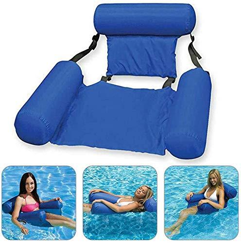WSFF Swimming Pool Chair, faltbar Pool Seat, Inflatable Schwebebett-Sitz, Erwachsene Aufblasbarer Lehnstuhl