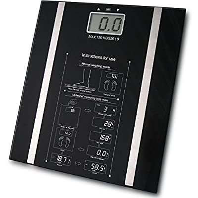Babz Black Digital BMI Body Fat Scale - 150kg by Babz