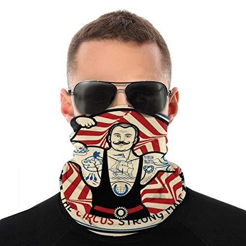 Fuerte Hombre Con Tatuajes Y Músculos Circo Estrella Headwear Cara Protector Bandana Pasamontañas Cuello Polainas