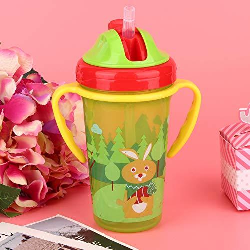 DAUERHAFT Taza para Beber de Agua para bebés de 300 ml, Botella de Agua para niños, para Leche, Agua, café, Chocolate Caliente para bebés/bebés/niños pequeños(Green)