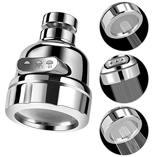 Kitchen Faucet Aerator Head 360° Rotatable Anti-Splash Faucet Sink TAP Sprayer Head Replacement, Booster Shower and Water Saving Tap for Kitchen