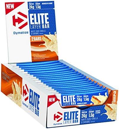 Dymatize Elite Layer Bar White Choc Vanilla & Caramel 18x ...