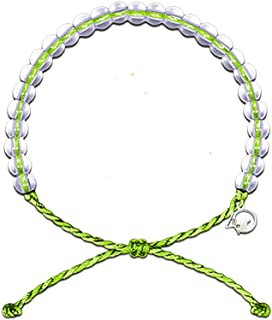 4Ocean Bracelet with Charm Made from 100% Recycled Material Upcycled Jewelry (Lime)
