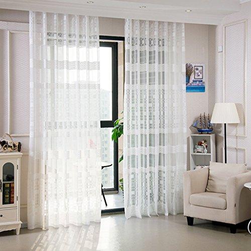 Met Love Cube D'eau Haut de gamme Chaîne Jacquard Rideaux Moderne Minimaliste Chambre Salon Étude Balcon Baie Fenêtre 2 Panneaux (Couleur : B, taille : L:3.0*H:2.7m)