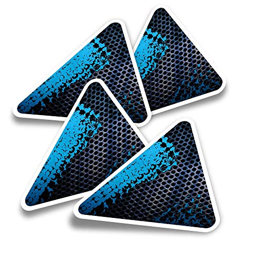 Pegatinas triangulares de vinilo (juego de 4) – Pegatinas divertidas para jugadores, tabletas, equipajes, reservas, neveras #3967