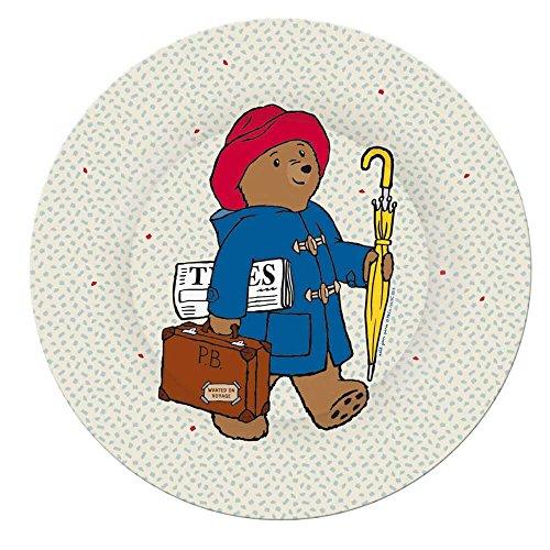 Petit Jour Paris Paddington Assiette en mélamine pour enfant 20 cm – Assiette en plastique mélaminé pour bébé – Bol pour bébé – Multicolore – Sans BPA
