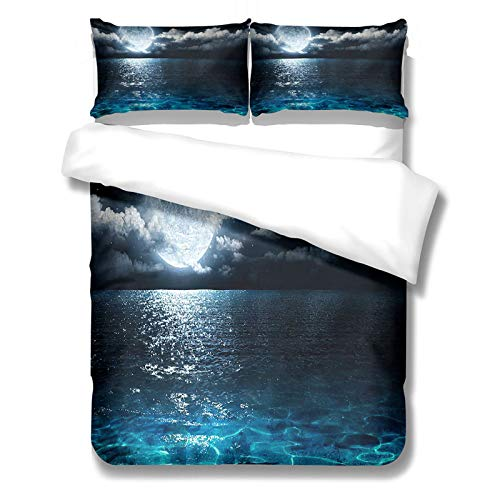 3D Digital Printing Beautiful Scenery Pattern Duvet Cover Set Of 3 Stylish And Personalized Bedding Soft And Comfortable In Various Sizes