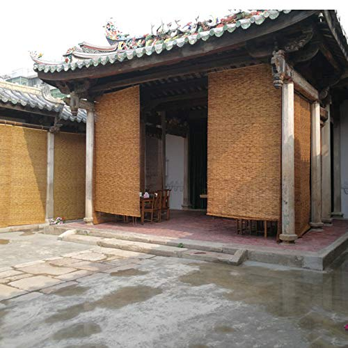 L-KCBTY Cortina De Bambú|persianas Enrollables|Natural|Toldos Verticales para Terrazas,Balcones,cocinas,pasillos,Jardines|Interior/Exterior