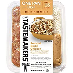 Tyson Tastemakers All Natural Roasted Garlic Chicken & Mushroom Risotto One Pan Dish, 27 oz, Serves